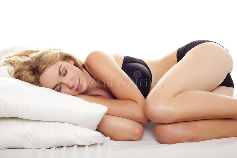 Download Sleeping blond woman. stock photo. Image of beauty, caucasian - 27090462