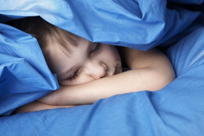 Sleeping boy stock image