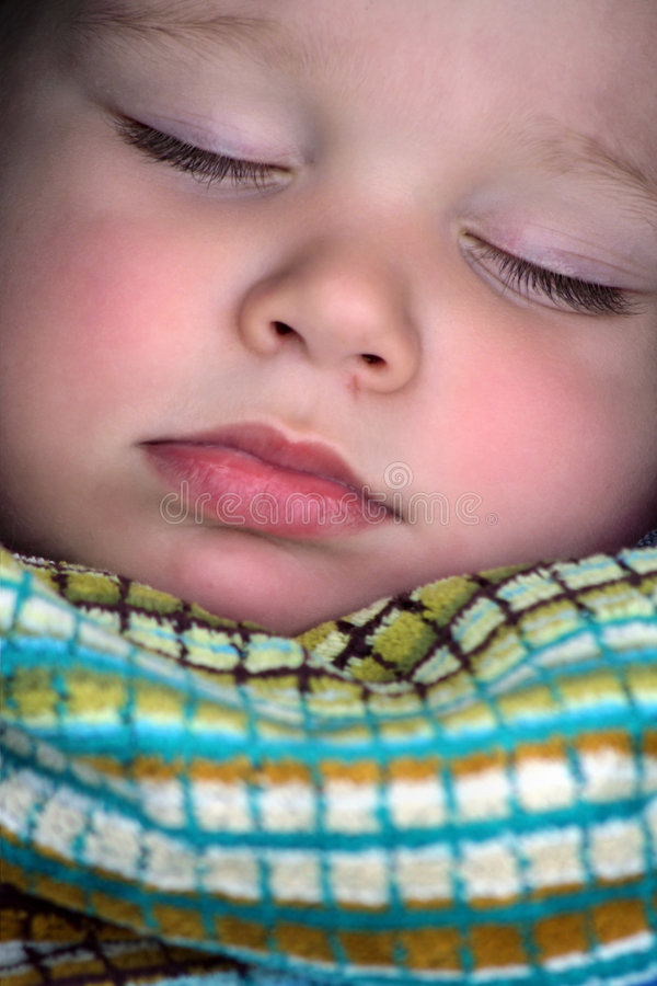 Download Sleeping Boy Portrait Close Up Stock Image - Image: 3447729