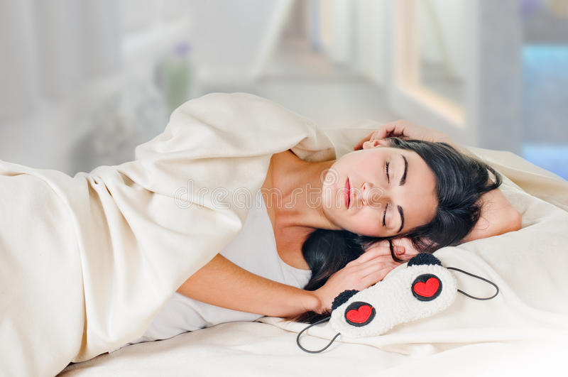Sleeping Brunette Royalty Free Stock Image