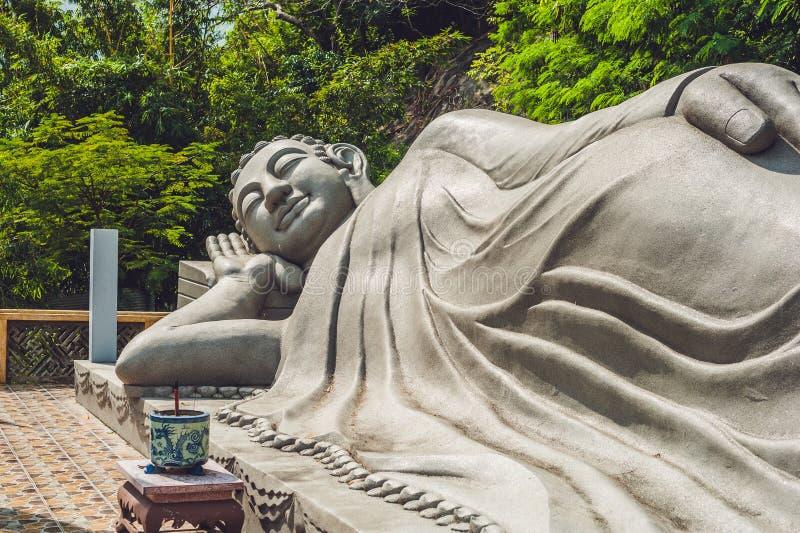 Sleeping Buddha at the Long Son Pagoda in Nha Trang royalty free stock photos
