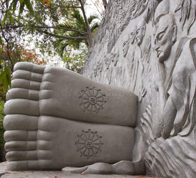 Sleeping Buddha stock photos