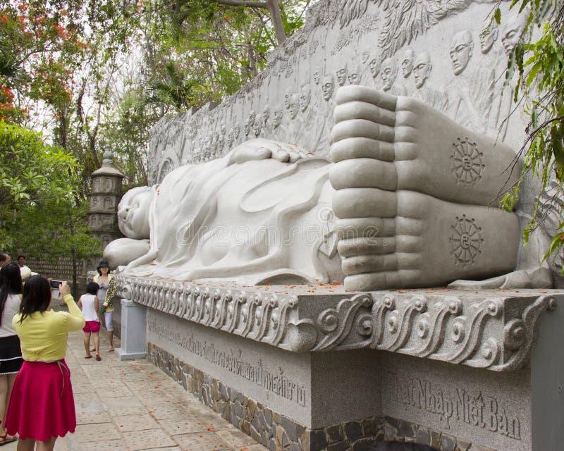 Sleeping Buddha stock image