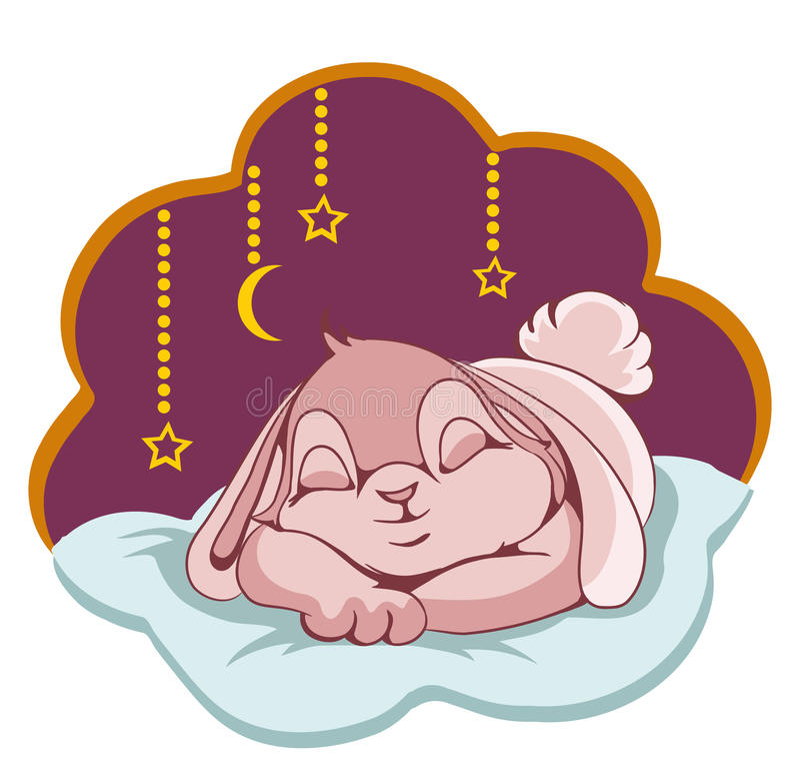Download Sleeping Bunny stock vector. Image of bunny, ears, sleeping - 27974333