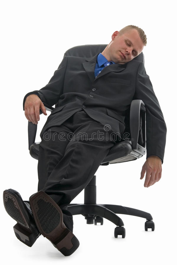 Sleeping businessman. royalty free stock photos