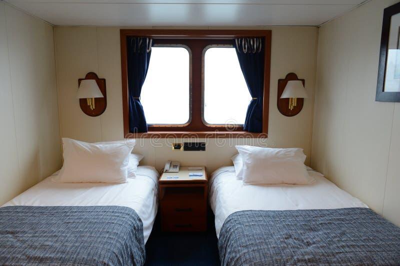 Sleeping cabin cruise ship Via Australis. stock photography