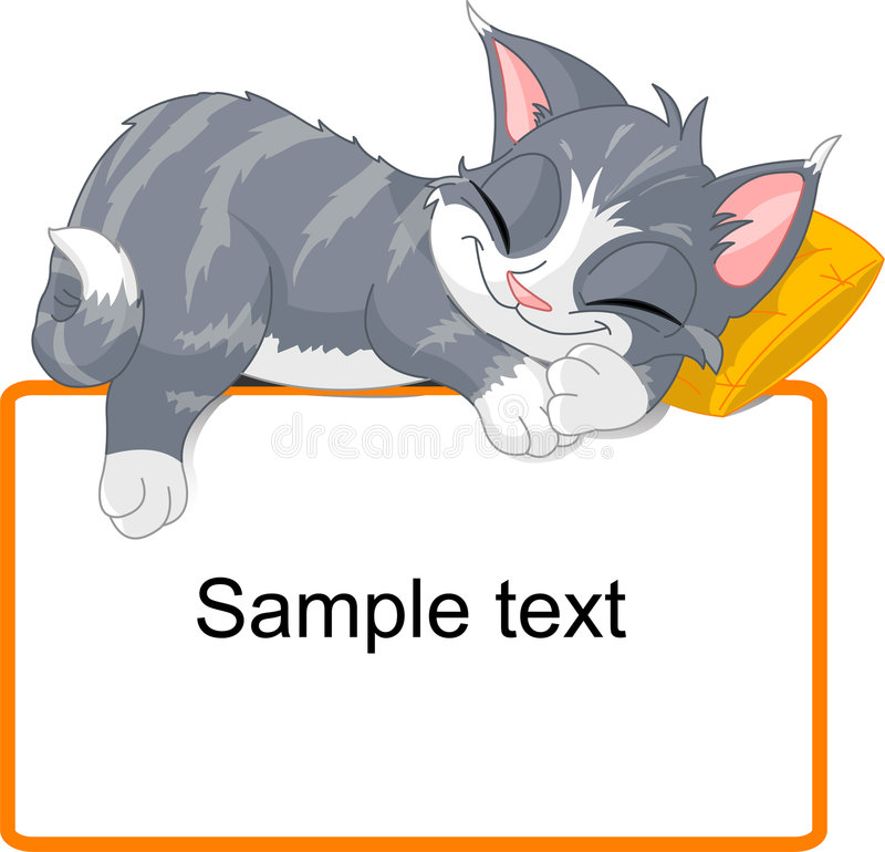 Download Sleeping cat stock vector. Illustration of celebration - 8122241