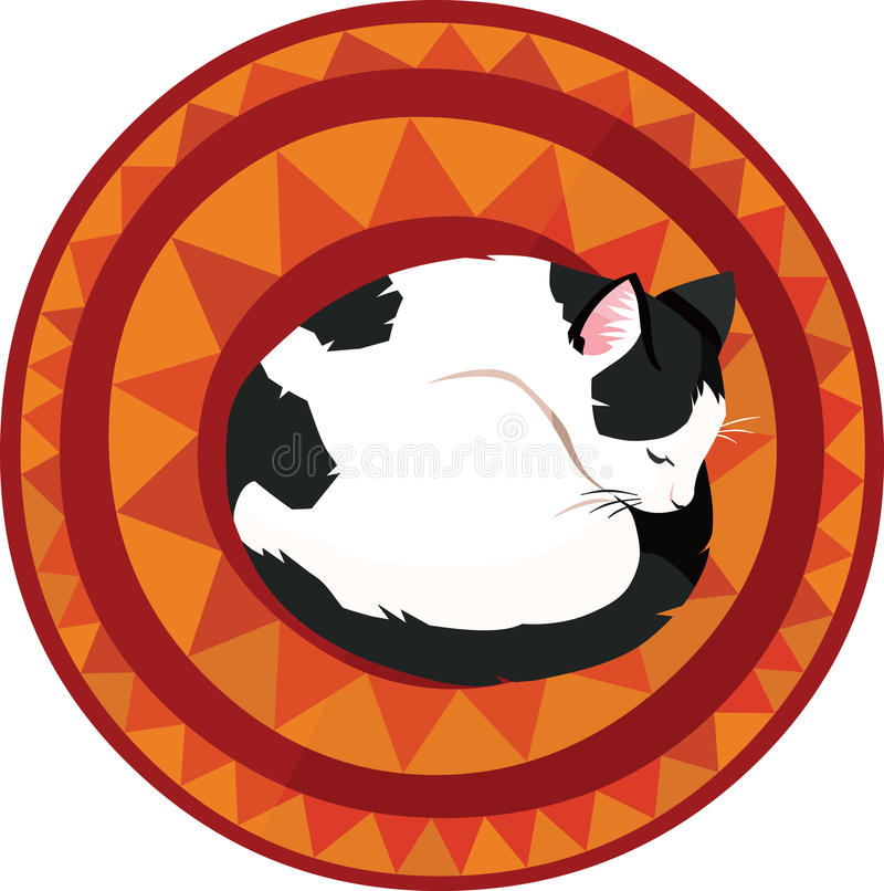 Sleeping cat royalty free illustration
