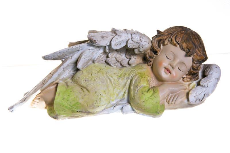 Sleeping cherub or angel royalty free stock image