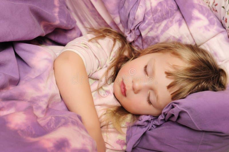 Sleeping child royalty free stock image