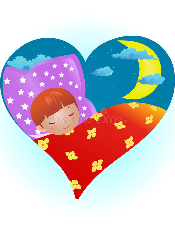 Sleeping child stock illustration