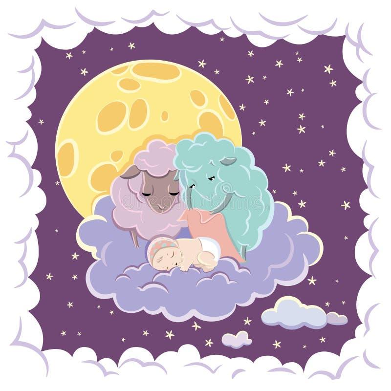 Sleeping Child vector illustration