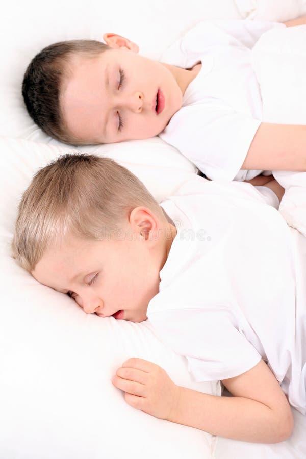 Sleeping children stock image