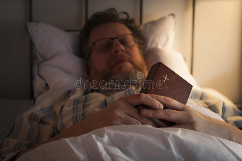 Sleeping Christian royalty free stock images