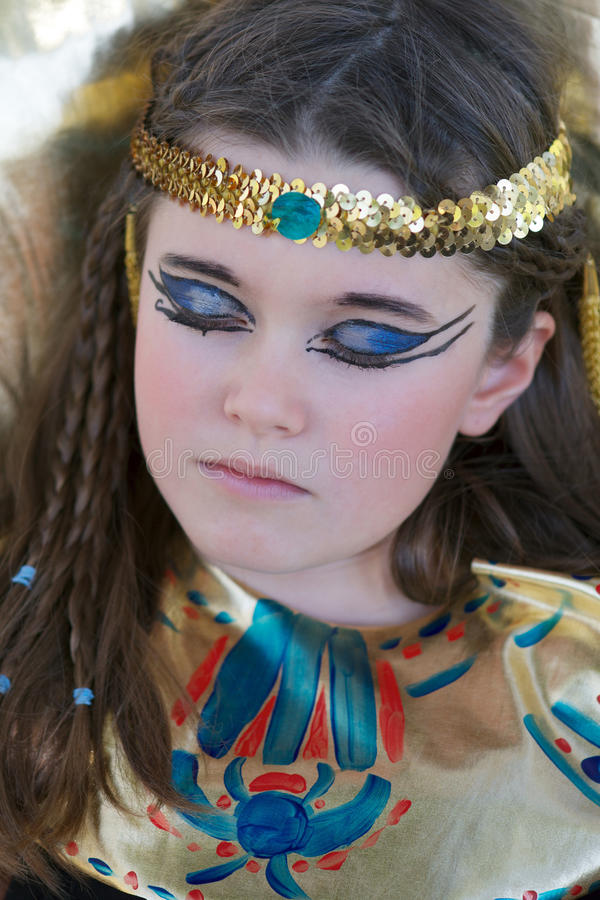 Download Sleeping Cleopatra Stock Image Of Egyptian Make