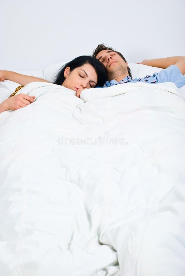 Sleeping couple royalty free stock photos