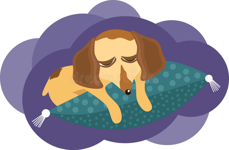 Download Sleeping dog stock vector. Image of illustration, cartoon - 17509434