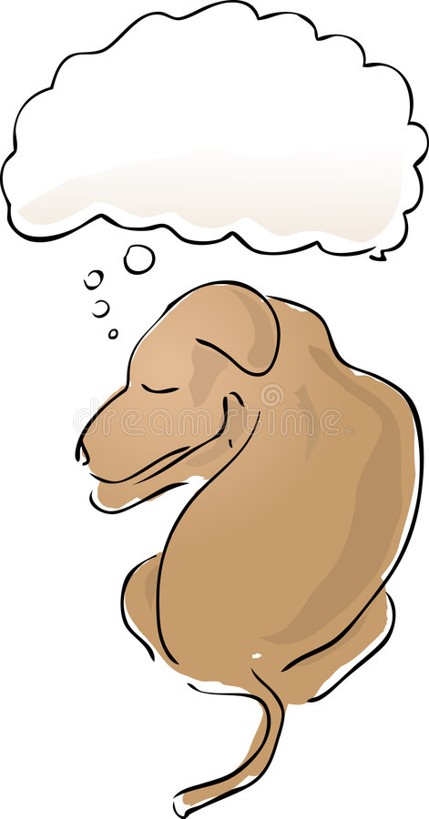 Download Sleeping dog stock vector. Image of vector, contemplating - 1791724