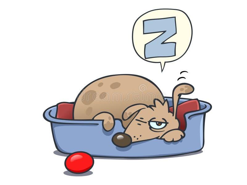 Download Sleeping Dog stock vector. Image of tail, mixed, sleep - 7946306