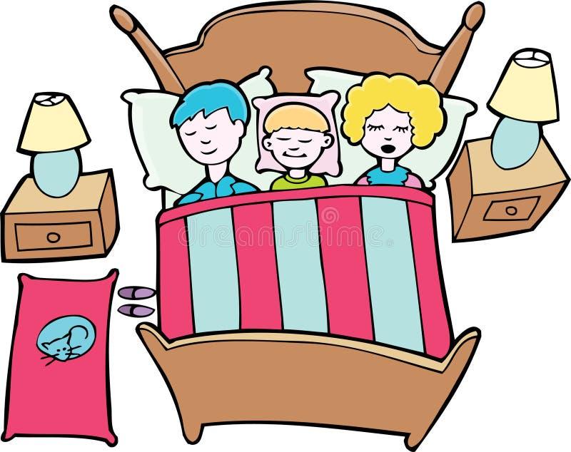 Download Sleeping Family stock vector. Illustration of family, loving - 9462028