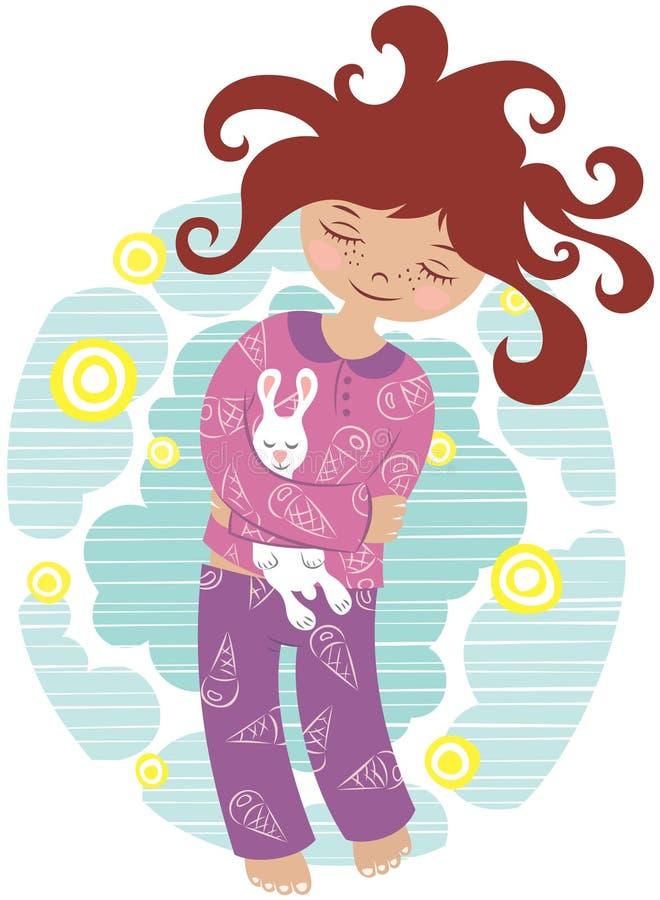 Download Sleeping girl stock vector. Illustration of pattern, sleep - 13683753