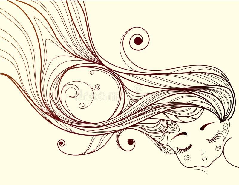 Download Sleeping girl stock vector. Image of shape, children - 19471462