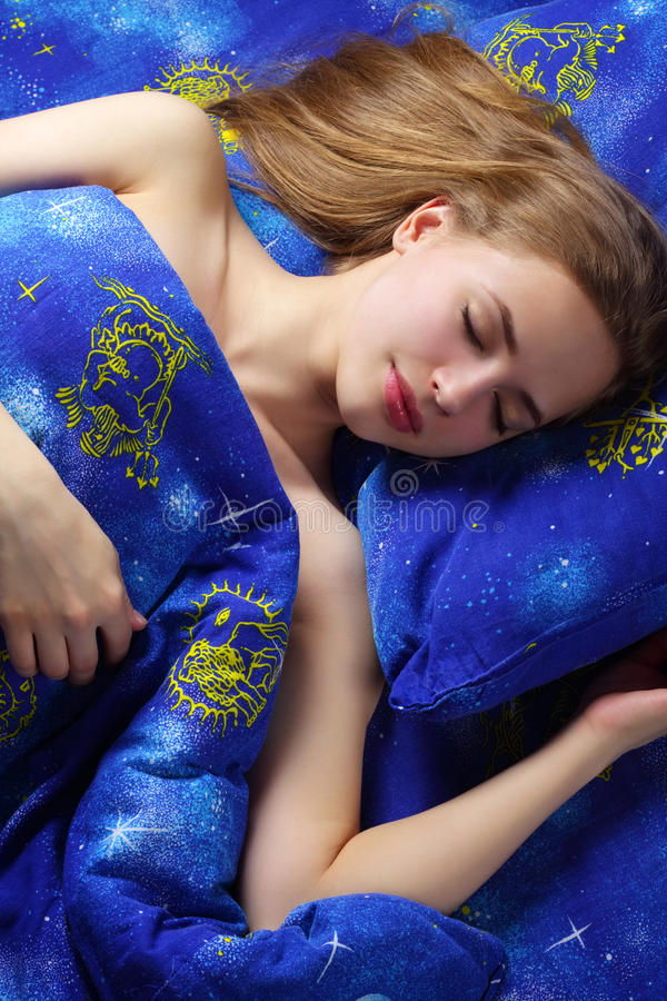 Download Sleeping Girl stock image. Image of female, health, lying - 25148211
