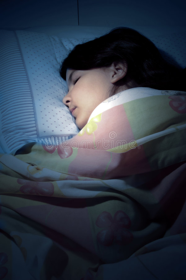 Download Sleeping girl stock image. Image of young, woman, comfortable - 3750681