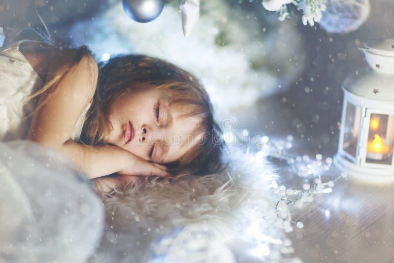 The sleeping girl royalty free stock photo
