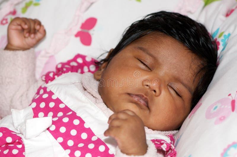Sleeping Indian Baby stock photos
