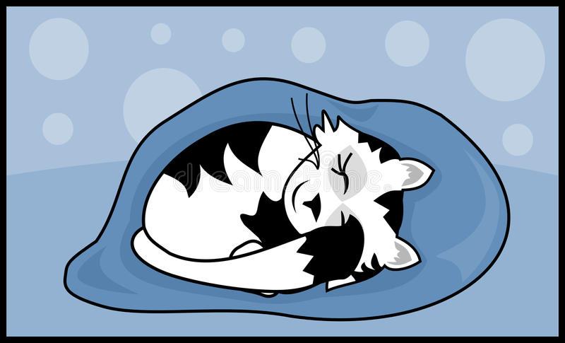 Download Sleeping Kitty stock vector. Image of feline, clipart - 28015045