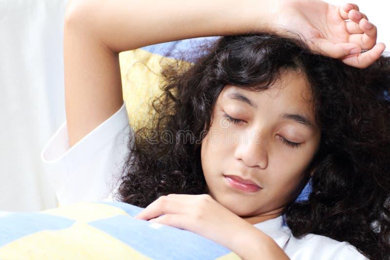 Sleeping Lady Royalty Free Stock Photography