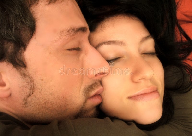 Download Sleeping lovers stock image. Image of protect, protection - 2042327