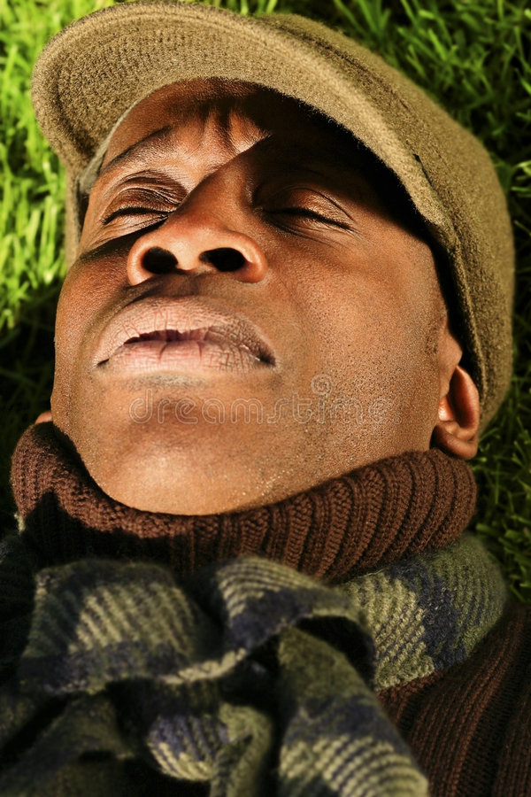 Download Sleeping Man stock photo. Image of skin, african, male - 7574168