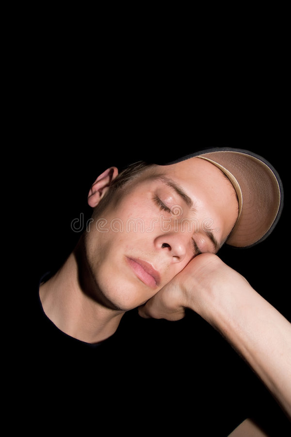 Download Sleeping man stock image. Image of male, relaxing, shadows - 9209701