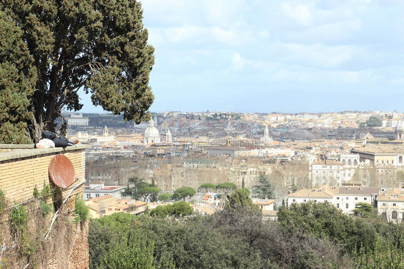 Download Sleeping On A Parapet In Rome Stock Photo - Image: 32583384