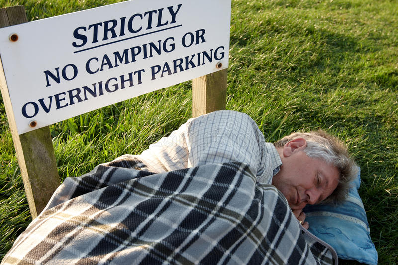 Sleeping rough royalty free stock image