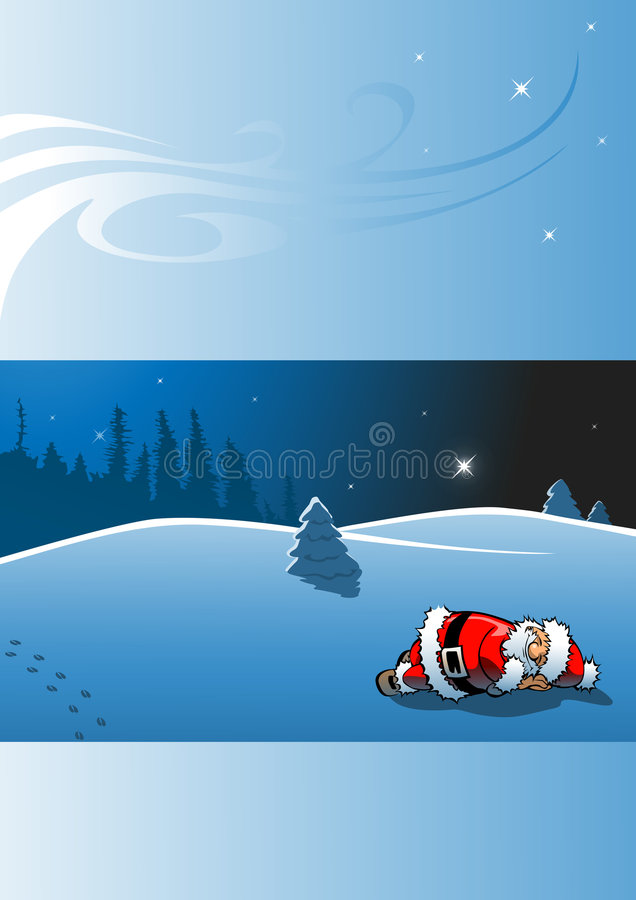 Download Sleeping Santa Claus - Christmas Card Royalty Free Stock Photos - Image: 7231918
