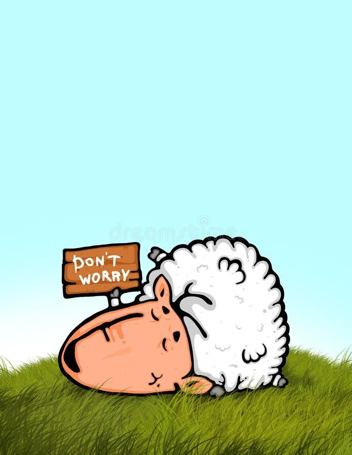 Sleeping Sheep Stock Image