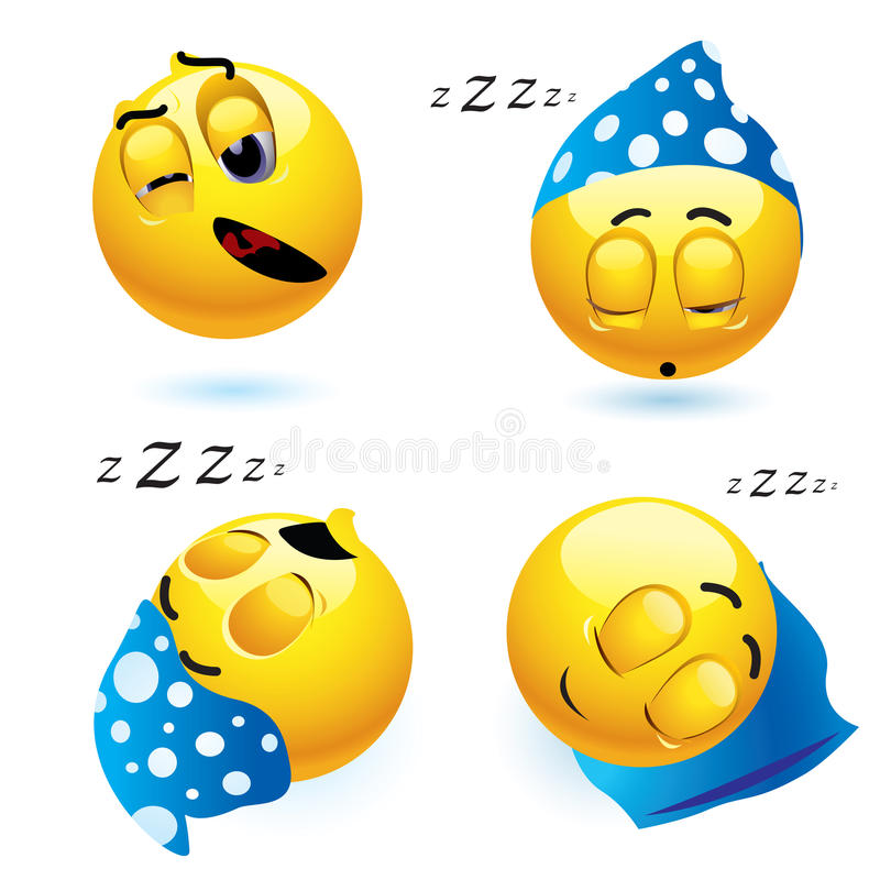 Download Sleeping smiley stock vector. Image of animated, character - 11728585