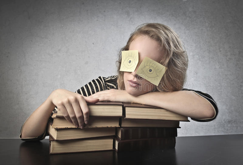 Download Sleeping Student stock photo. Image of annoyance, blonde - 26483262
