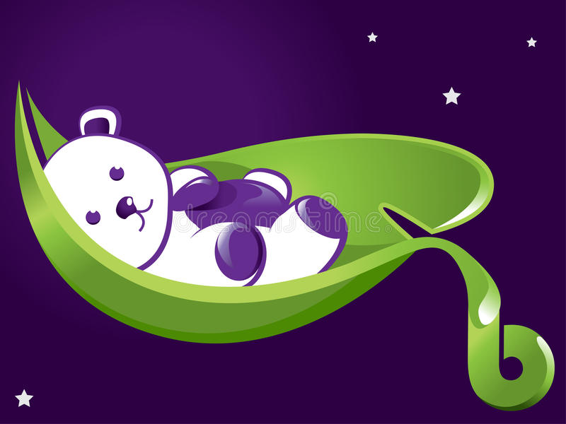 Download Sleeping Teddy stock vector. Image of birth, leaf, vector - 22685925