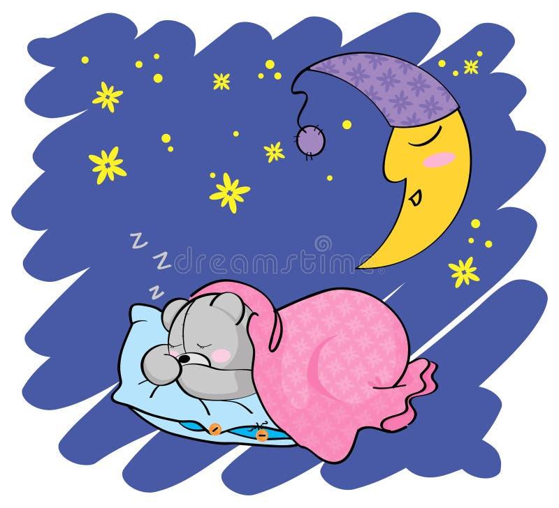 Free Sleeping Teddy Bear Royalty Free Stock Images - 22843429