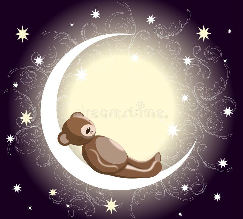 Sleeping teddy bear royalty free stock photography