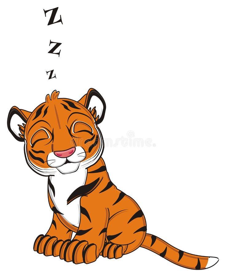Sleeping Tiger Stock Illustrations 143 Sleeping Tiger