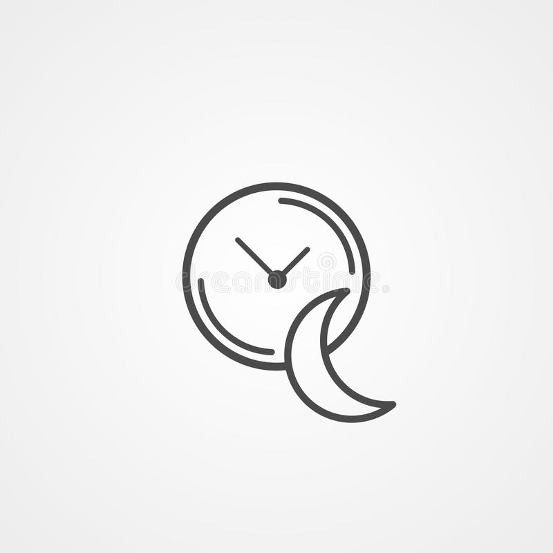 Sleeping time vector icon sign symbol. Sleeping time icon vector, filled flat sign, solid pictogram isolated on white. Symbol, logo illustration vector illustration