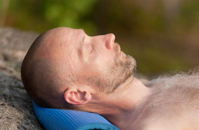 Download Sleeping tired tourist stock image. Image of rest, male - 20587019