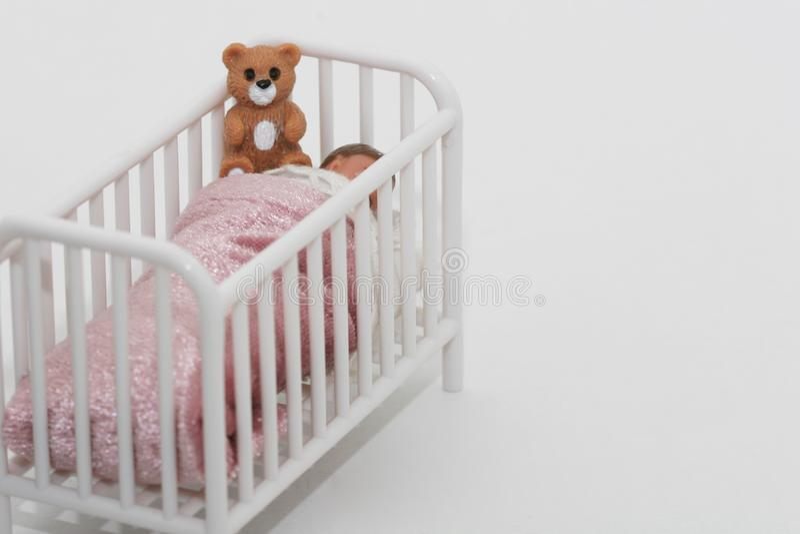 Sleeping toddler stock photos