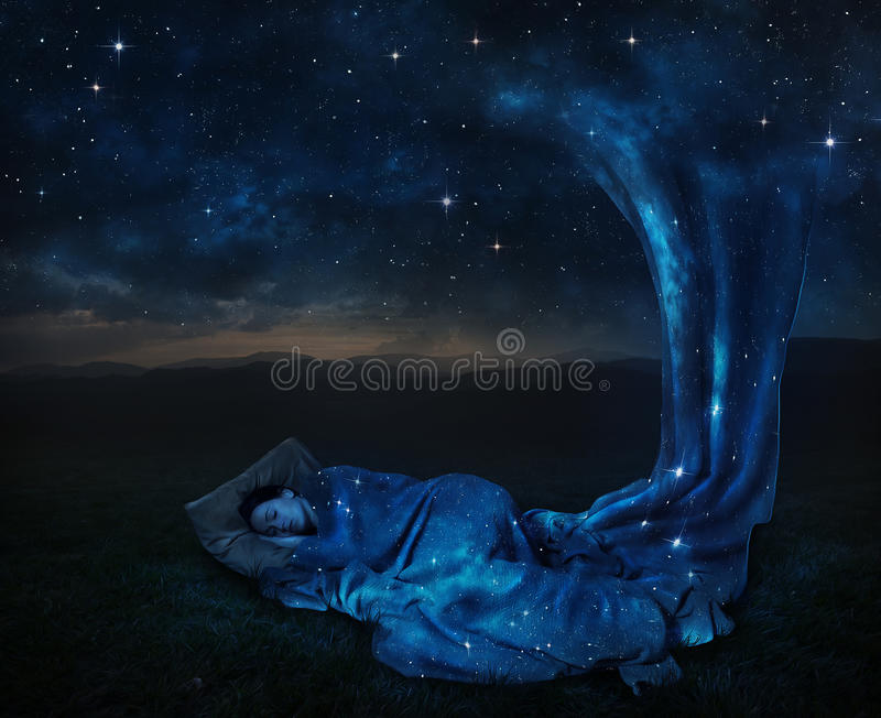 Sleeping Under The Stars Stock Photo Image Of Concept