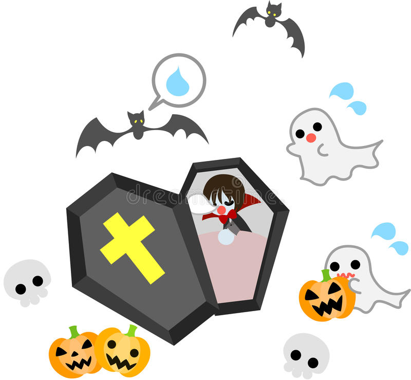 Download A sleeping vampire stock vector. Illustration of images - 26542551